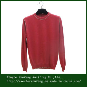 Men′s Cotton Crew Neck Pullover Sweater Nbzf0003