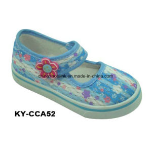 New Fashion Colorful Kids Comfort Casual Injection Canvas Shoes pictures & photos