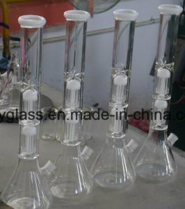 Top Quality Glass Waterpipe with Doulbe Tree Arm Percs for Smoking Shop Mix Color pictures & photos