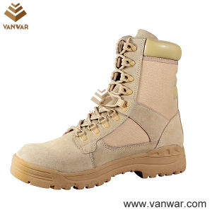 Leather Collar Military Desert Boots with Anti-Slip Outsole (WDB015) pictures & photos