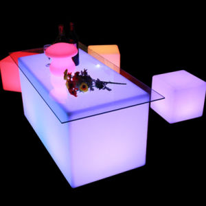 LED Cube Furniture Sale LED Cube Tables Changing Color Furniture pictures & photos