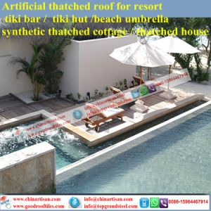 Luxury Villa Tropical/Island Style Synthetic Thatch Roof Tiles From Seychelles pictures & photos