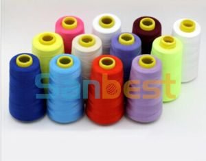 100% High Quality Colorful Spun Polyester Sewing Thread pictures & photos