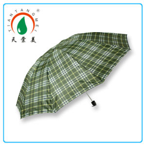 27′′x10k 3 Foldable Umbrella in Lattice Style by Manual