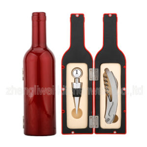 Shiny Paint Bottle Shaped Wine Gift Set (608004-A) pictures & photos