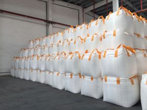 Circular Type PP Woven Big Bag with Four Orange Cross Corner Lifting Loops and Two Stevedore Loops pictures & photos