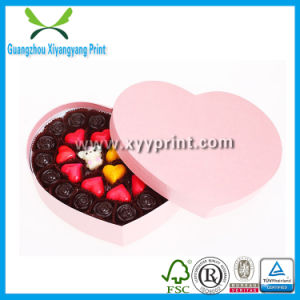Custom Fancy Pink Color Heart Shaped Chocolate Packaging Box pictures & photos