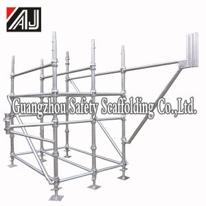 Q235 Galvanized Steel Cuplock Scaffolding System for Large Building Construction pictures & photos