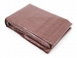 Weather Resistant Finish Size Brown Tarp pictures & photos