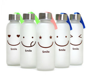 2016 New Design Frosted Glass Water Bottle pictures & photos