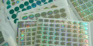 Custom Hologram Label Stickers, Security Hologram Sticker, Warranty Hologram pictures & photos