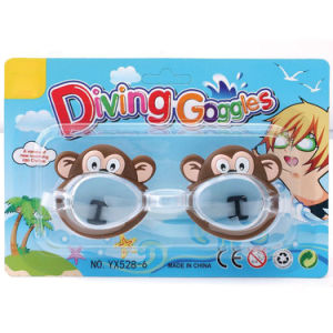 Plastic Kids Cartoon Animal Diving Swimming Goggles Summer Toy