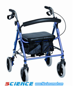 Deluxe Aluminum Foldable Rollator (SC-RL04 (A)) pictures & photos