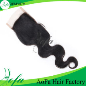 Wholesale Good Quality Brazilian Remy Human Hair Lace Closure pictures & photos