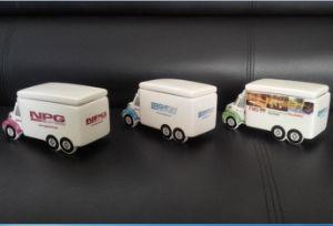 Truck Shape Customerized Logo Ceramic Candy Cookie Jar