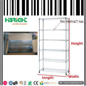 Chrome Plating Wire Storage Shelving Rack pictures & photos