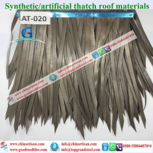 At020 Artificial Thatch Synthetic Thatch Plastic Palm Thatch Roofing Factory pictures & photos
