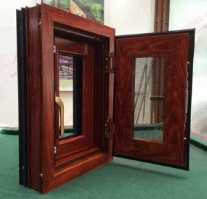 Woodgrain Aluminum Burgularproof Window (BHA-CW27) pictures & photos