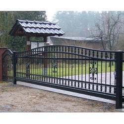 Sliding Wrought Iron Driveway Gate pictures & photos
