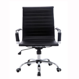 MID Back PU Leather Ribbed Upholstered Protective Sleeves Chair pictures & photos
