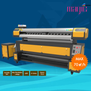 Mcjet 90 Inch Eco Solvent Digital Flexographic Printer with Epson Dx7 pictures & photos