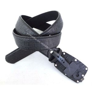 New Big Buckle Crocodile Grain Leather Belt for Men pictures & photos