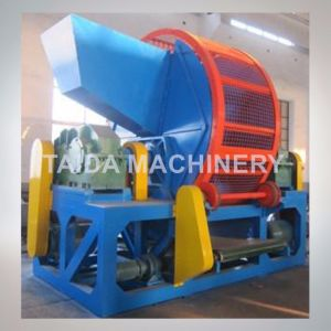 Waste Tire Recycling Machine Two Roll Rubber Crusher Shredder pictures & photos