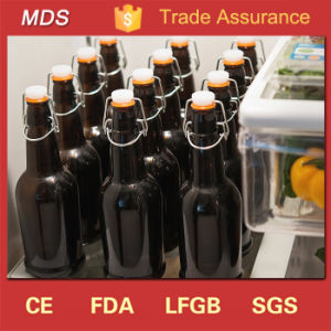 Wholesale Custom Amber Beer Glass Brewing Bottle with Clip Lid pictures & photos