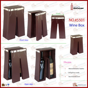 Imitation Leather Wine Carry for 2 Bottles (5501) pictures & photos