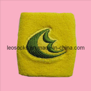 Embroidery Sport Cotton Wristband (DL-WB-17) pictures & photos