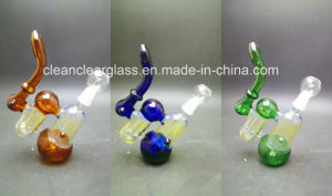 High Quality Colored Glass Water Pipe Smoking Oil Rig with 14.5mm Joint pictures & photos