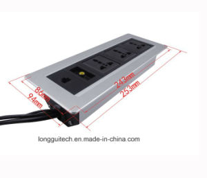 Desk Top Meeting Room Socket Aluminium Box Lgt-112 pictures & photos
