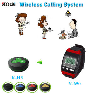 New Arrive 433.92MHz Watch Calling System for Restaurant Service pictures & photos