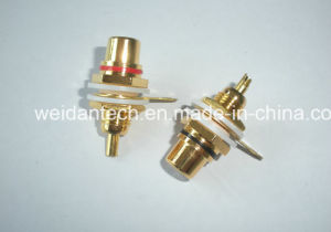 Gold Plated RCA Plug Keystone pictures & photos