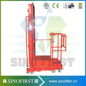 Foot Panel Control Electric Vertical Welding Lift Platform Aerial Oderpicker pictures & photos