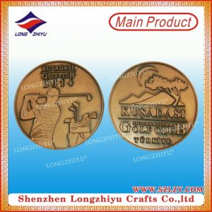 Commemorative Embossed Metal Coins 3D Golf Challenge Coin pictures & photos