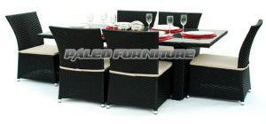 Leisure Furniture Garden Patio Wicker Outdoor Rattan Dining Set (PAD-056)