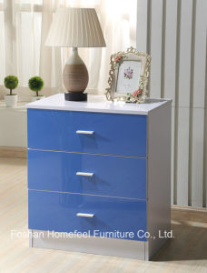 Ikea Style High Gloss Blue Kids Wardrobe Dresser Bedroom Set pictures & photos