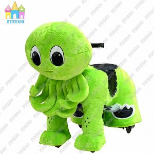 Finego Hot Park Children Devilfish Plush Animal Kiddy Ride on Horse Animal in Factory Price pictures & photos