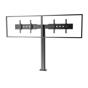 "Public TV Floor Stand Floormount Base Dual Screens 30-60"" (AVA 202E) pictures & photos"