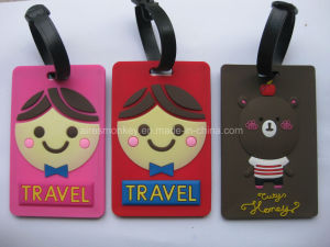 Bulk Luggage Tags Airport PVC Luggage Tag Hot Selling Travel Tags pictures & photos