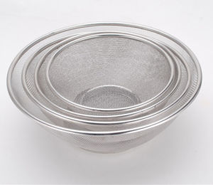 Stainless Steel Wash Rice Basket (YC043)