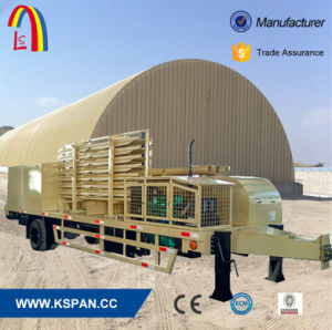 Ls 914-610 Trailer Mounted Movable Steel Building Span Roll Forming Machine pictures & photos