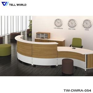 SPA Reception Desk in White Vinyl or Leather High Gloss Reception Desk Hair Salon Reception Cashier Desks pictures & photos