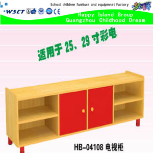 Hot Sale Kindergarten Furniture Kids TV Stand on Stock (HB-04108) pictures & photos