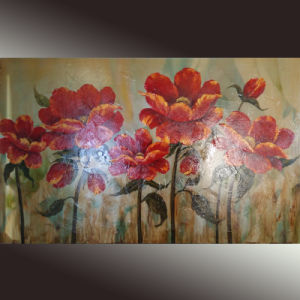 China Wholesales Flower Floral Wall Art Painting (LH-158000) pictures & photos