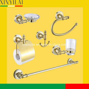 Luxury Gold Chrome Bathroom Accessories Set with 6PCS pictures & photos