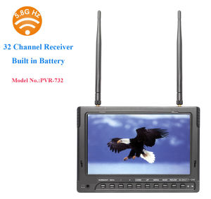 "32CH 5.8GHz Receiver 7"" LCD DVR with Built-in Battery for Ground Station Fpv pictures & photos"