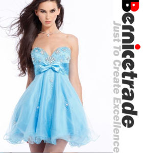 Charming Mini Blue Sweetheart Cocktail Prom Dress
