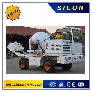 Hydraulic Self-Loading Concrete Mixer Truck with Hopper 4.0m3 pictures & photos